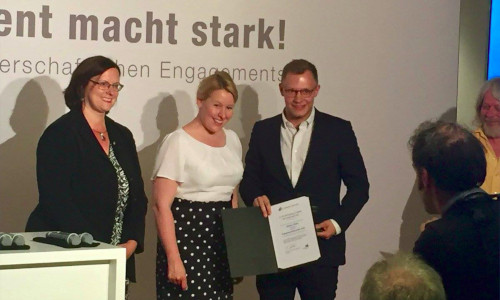 "Laureate in the ""Germany - Land of Ideas"" initiative"